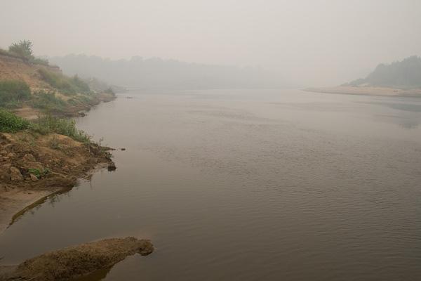 Река Клязьма в районе д. Лучинки (Владимирская область)